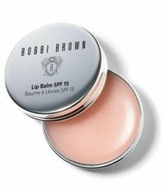 Bobbi Brown Lip Balm spf 15 (lip treatment) by Bobbi Brown. $33.95. Specially formulated with Wheat Germ and Olive Oil, this comfortable, non-greasy lip balm immediately goes to work comforting and protecting lips. Wear alone for natural look, with Lip Liner or Lip Gloss. Bobbi Brown Lip Balm SPF 15 comes in a sleek and portable polished silver tin....