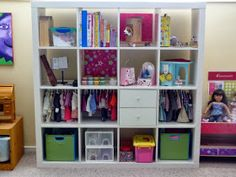 Genial American Girl Doll Storage   Organizing: Reader Space: Dolled Up Storage