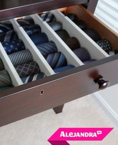 Keep in mind u can do this in any drawer, with some foam, cardboard, scrap wood, or even kitchen drawer dividers!