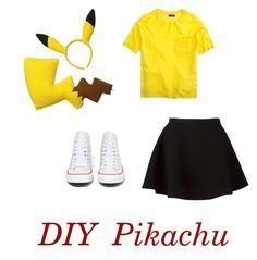"""DIY Pikachu Costume"" by kella-my-faith on Polyvore featuring Converse, J.Crew and Neil Barrett"