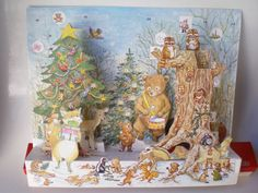 JCO Denmark Pop Up Advent Calendar Tree Fox Bear Hedgehog