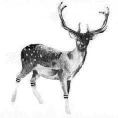 Beautiful deer sketch