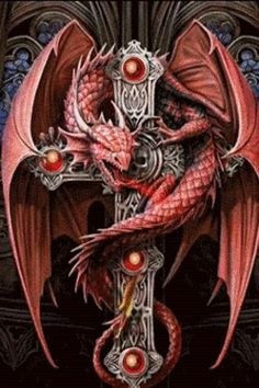 dragon on cross - Google Search