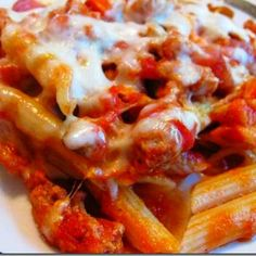 Serving of Baked Ziti