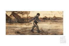 The Sower, from a Series of Four Drawings Representing the Four Seasons Giclee Print by Vincent van Gogh at Art.com