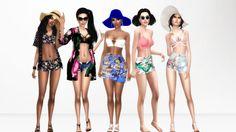 Beach Outfits1. Etta • Hat [xx] - @sims4-marigold • Hair [xx] - @sintiklia • Kimono [xx] - @salem2342 • Outfit [xx] - cutestuffsims • Shoes [xx] - @madlensims 2. Ciara • Hair [xx] - @thesimwithoutaname • Sunglasses [xx] - @merakisims • Cardigan [xx]...