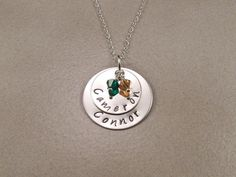 Personalized Hand Stamped Sterling Silver by KrisTsCreations, $45.00