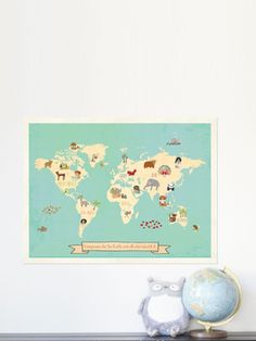 Global Compassion Map from Kid-Friendly Home on Gilt