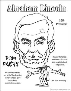 Abraham Lincoln Coloring Page Awesome Abraham Lincoln Coloring Pages Printable Coloring Home Coloring Pages For Boys, Coloring Pages To Print, Free Coloring Pages, Printable Coloring Pages, Coloring Sheets, Kids Coloring, Colouring, Kid President, President Facts