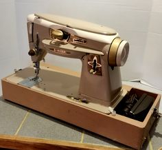 This beautiful Singer 500 Rocketeer is offered by Stagecoach Road Vintage Sewing Machine Restoration. http://stagecoachroadsewing.com