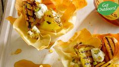 Barbecued fruit with maple syrup and rum drizzle | Recipes | Yours