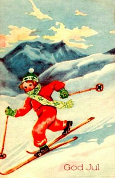 Julekort Paul Lillo-Stenberg Norsk Arbeide Stemplet 1947