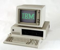 1980s IBM PC, the green screen reminds me of the computer room at college.  Every screen had the school logo burned into it because there were no screensavers!