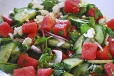 """Point-less"" Meals: Watermelon- Cucumber Salad"