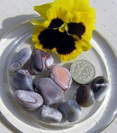 10 Botswana Agate Crystal Tumblestones by SunnyCrystals on Etsy, $4.75