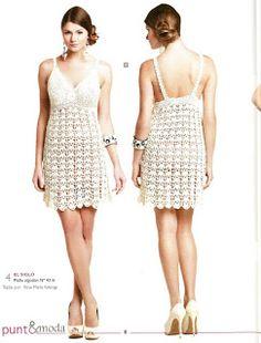 Free Graphics Crochet Patterns - Crochet Patrones Gráficos Gratuitos: Vestido Sexy