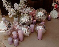 Disco Birthday Party, Disco Party, Disco Ball, Hydrangea Arrangements, Hydrangea Colors, Hydrangeas, Disco Theme, Our Wedding, Dream Wedding