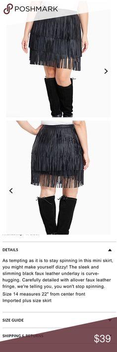 Torrid 2 faux leather trim mini skirt Torrid 2 faux leather trim mini skirt torrid Skirts Mini