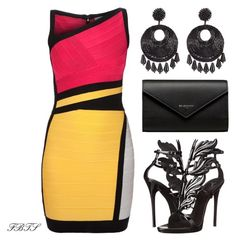 """""""Grown & Sexy"""" by flybeyondtheskies on Polyvore featuring Hervé Léger, Giuseppe Zanotti, Kenneth Jay Lane and Balenciaga"""