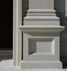 Palm Beach Cast Stone, Inc. Gate Wall Design, Front Wall Design, House Roof Design, House Outside Design, Living Room Partition Design, Room Partition Designs, House Pillars, Baseboard Styles, Cornice Design
