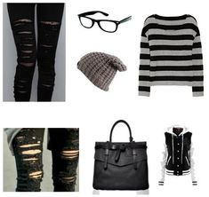 I want this outfit I might want some color like pink or blue in the top though