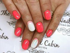 Hard jel overall with iLac gel polish, glitter and hand painted nail art    #thenailcabinlincs #showscratch #nailart #nailsonfleek #acrylicnails #nails💅 #naildesigns #nailsbyme #newnails #nailswag #inklondon #gelpolish #nailporn #icandonails #nailartist #naillife #nailsdid #nailfashion #nailjunkie #coralnails #whitenails