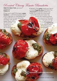 Roasted cherry tomato bruschetta