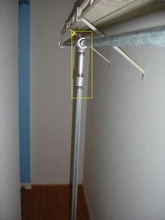 Installing A Vertical Support Bar For A Bracket Less Closet Rod.
