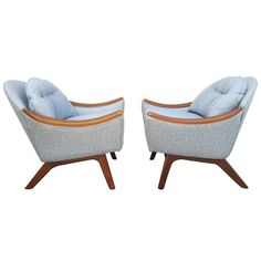 Fabulous Pair of Adrian Pearsall Walnut Scoop Chairs Mid-century Modern