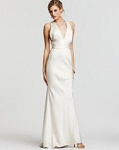 Nicole Miller Double Face X-back Satin Bridal Gown Size 2 $730 Dg0021 Wedding Dress $374