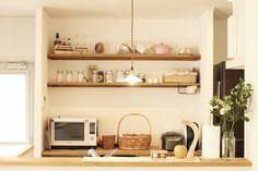 キッチン/キッチン棚/キッチン収納/バックキャビネット/造作収納/カフェ/ナチュラル/シンプル/インテリア/注文住宅/ジャストの家/cafe/kitchen/interior/house/