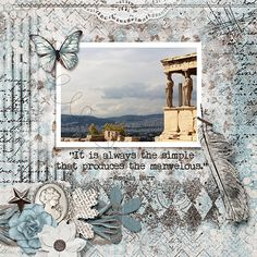 It's always the simple. Always Be, Digital Scrapbooking, Artsy, Layout, Tapestry, Templates, Create, Simple, Shop
