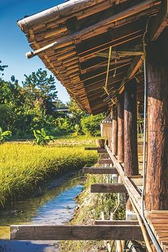 House design exterior philippines bungalow new ideas Timber Architecture, Tropical Architecture, Vernacular Architecture, Architecture Design, Thai House, Decor Home Living Room, House On Stilts, Bungalow, Farm Stay
