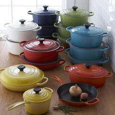Cook in #color. Classic @lecreuset #cookware now available in seven beautiful colors. Click the link in our bio to shop!