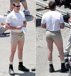 HAHAHHAHA  Bradley Cooper - American Sniper OMG they are short shorts!! Buns of steel.