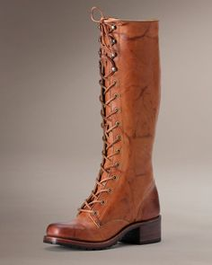 Campus Lug Lace - Women_Boots_Campus - The Frye Company. I own these boots they are wonderful! Cowgirl Boots, Riding Boots, The Frye Company, Leather Lace Up Boots, Saddle Leather, Frye Boots, Women's Boots, Hot Shoes, Me Too Shoes