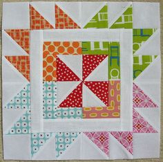 Image result for scrappy paddle wheel quilt block