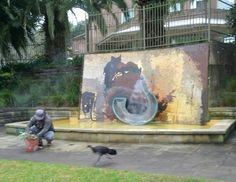 fountain burns park gosford - Google Search Murals, Fountain, Mosaic, Park, Google Search, Painting, Wall Murals, Wall Paintings, Water Well