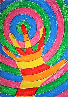 """For my whole class art project, each student does one, then make a """"quit"""" out of them for display.  Can talk about circles and geometry too- turns it into a math lesson!"""