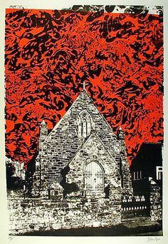 Newgate Chapel by John Piper: One of my favorite pieces by this artist. Edward Hopper, John Piper Artist, Building Art, Sense Of Place, A Level Art, Tapestry Design, Sketchbook Inspiration, Urban Landscape, Gravure