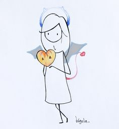 """""""Trick or treat? Minimal Drawings, Easy Drawings, Holiday Wallpaper, Little Doll, Stick Figures, Beautiful Drawings, Cute Characters, Drawing Techniques, Cool Cards"""