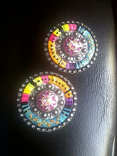 #conchos #post #earrings #quillwork