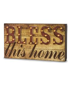 'Bless This Home' Marquee Sign
