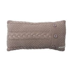Millie & Boris Knitted Cushion - $69.95 - A chunky knit display cushion with button detail that will add a touch of style to a nursery or can be mixed and matched throughout the home. #sweetcreations #baby #boys #bedroom #nursery #decor #bedding #cushion #knitted #babyshower #gifts #MillieandBoris