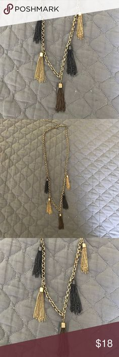 Long Tassel Necklace Great long fashion necklace with 5 tassels. Only worn once! It is in great condition and really cute. Leslie Danzis Jewelry Necklaces