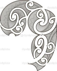Maori tattoo design — Stock Vector