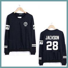 Kpop GOT7 Jackson Sweatshirt Moletom Feminino Casual Tracksuit Plus Size XS-3XL Women Sweatshirt Tops Hoodie Pullovers C2183