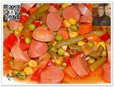 Macedónia de Legumes com Mista de Salsichas
