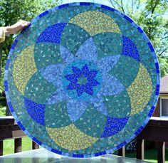 36 redondo vidrio mosaico mesa y la Comisión  no para