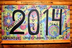 Back To The Drawing Board - a look back at my chalkboard art in 2014 - Victoria Lynn Hall - Slave To The Muse blog.